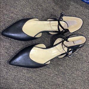 Sarah Flint Hannah Vaccheta Black Leather Flats